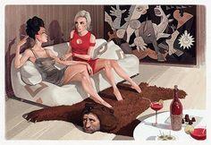 Cheeky Illustrations by Waldemar von Kozak