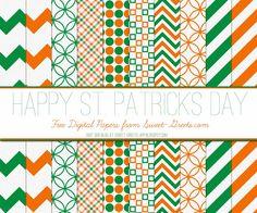 Free St. Patrick's Day Digital Paper Set