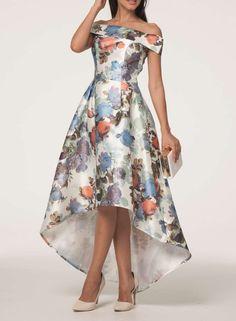 Chi Chi London Bardot dip hem dress - Fab Asymmetrical hem but wrong colour for me :-(