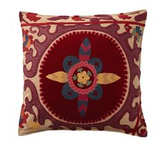 Suzani Applique Embroidered Pillow Cover, 20