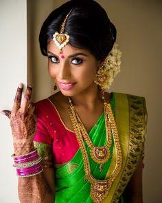 "22 likerklikk, 1 kommentarer – Azhagu Bride (@azhagu.bride) på Instagram: ""Make up flawless and those eyes  MUA credit goes to : @tjglammakeup - she has done an amazing job…"""