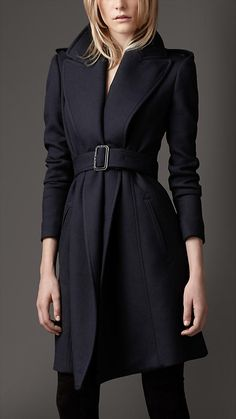 wide lapel belted coat   Burberry
