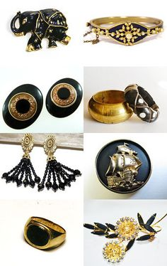 Black Strikes Gold! by Ann on Etsy--Pinned with TreasuryPin.com