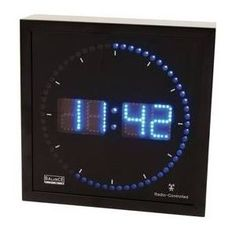 Balance He-clock-27 Aluminium LED Wandklok