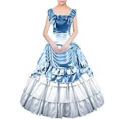 Partiss Women Bowknot Gothic Victorian Lolita Dress XXL Light Blue ** Check out this great product-affiliate link.