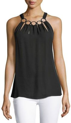 Elie Tahari Riley Chain-neck Halter Blouse In Black Modest Fashion, Diy Fashion, Ideias Fashion, Fashion Outfits, Fashion Trends, Trending Fashion, Kleidung Design, Diy Vetement, Elie Tahari