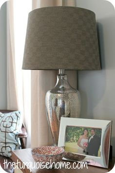 The Turquoise Home: Mercury Glass Lamps {bought}: Master Bedroom Update