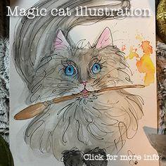 Magic cat illustration | Junethekitty