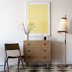 yellow graphic print