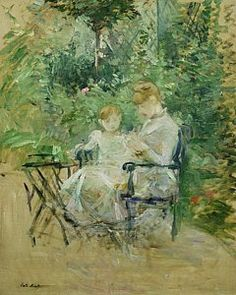 In The Garden by Berthe Morisot                                                                                                                                                                                 More
