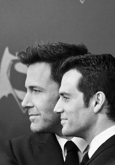 Ben Affleck and Henry Cavill at event of Batman v Superman: Dawn of Justice (2016)