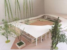 つながる、ひろがる -こども達の庭を包み込むこども園- | 2016年度 建築デザインコース | 卒業制作・卒業研究 作品・論文集 2016年度 | airUキャンパス Japanese Architecture, Architecture Design, Diagram Design, Animal Shelter, Kyoto, Elementary Schools, Cartography, City, Animal Shelters