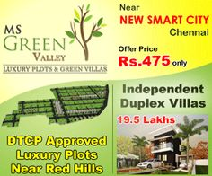 13 Best MS Green Valley DTCP Approved Plots & Villas near Redhills