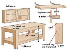 Make Your Own Garage Workbench - www.tidyhouse.info
