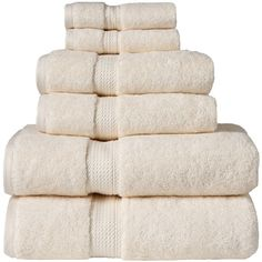 Home City Cream Egyptian Cotton Six-Piece Towel Set (76 AUD) ❤ liked on Polyvore…