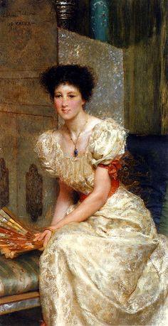 Sir Lawrence Alma-Tadema (Sir Lawrence Alma Tadema) (1836-1912)  Portrait Of Mrs Charles Wyllie