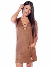 Resultado de imagen de vestidos antelina marron