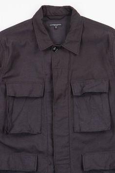 Black Reversed Sateen BDU Jacket by Engineered Garments – The Bureau Belfast