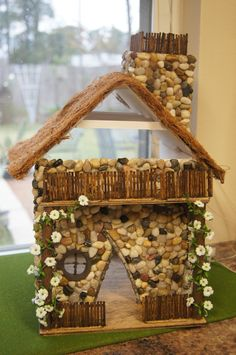 The miniature fairy house in the fairy garden is almost done. http://pinterest.com/msignorelli101/boards/