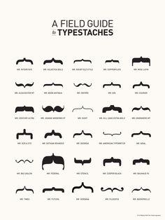 Typestaches via Graphic Design Forum