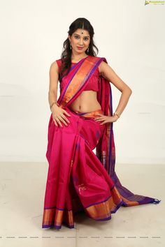 Beautiful Indian Supermodel Pinky Lakhera in Saree - Ragalahari Exclusive Photo Shoot - Image 31