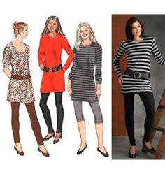 Sewing Pattern - Womens Sewing Pattern for Tunics Pattern and Legging Pattern Three Views - Kwik Sew #K3463
