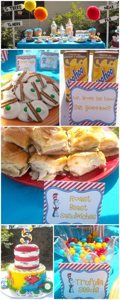 Dr. Seuss food ideas: using this for the Dr suess party Im having as an event!