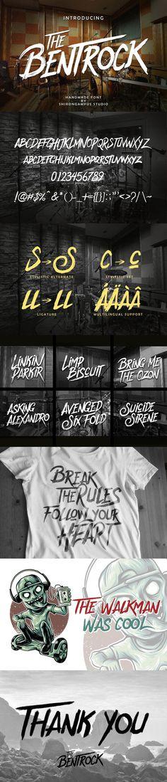 The BentRock Typeface. Fonts. $15.00