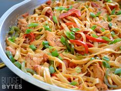 cajun chicken pasta - worried this would be too spicy for eric at first, but he ended up liking it