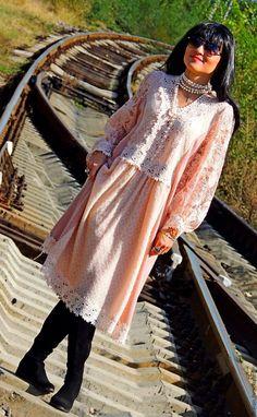 Купить БОХО платье осеннее (№197) - платье миди, платьебохо, Бохо платье, стиль бохо