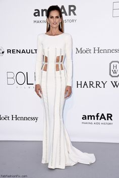 Izabel Goulart wearing Zuhair Murad Couture gown and De Grisogono jewelry at the amfAR's 23rd Cinema Against Aids Gala during the 69th Cannes Film Festival. #cannes #festivaldecannes #izabelgoulart