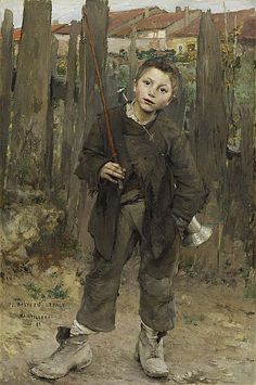 """""""Nothing Doing"""" ... by Jules Bastien LePage 1882 ♥"""