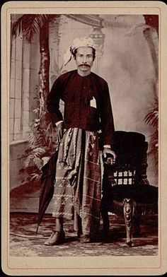 A well dressed Burmese gentleman c 1900.