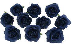 10 navy blue rose heads silk flower weddingreception table 10 navy blue rose heads silk flower weddingreception table decorations bulk silk flowers mightylinksfo