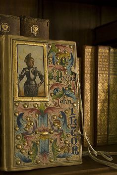 Paradise bound...Painted vellum book of 'The Poems of John Milton'