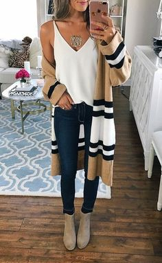 Love this striped duster