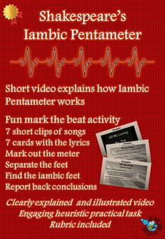 Video and activity on Shakespeare's use of iambic pentameter.