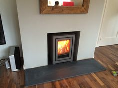 Kernow Fires Contura I4FS wood burning stove installation in Cornwall.