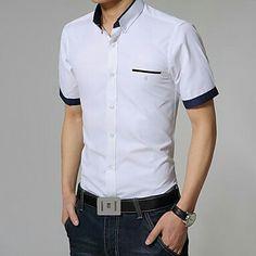 Mens Fashion, Fashion Trends, Chef Jackets, Shirt Designs, Short Sleeves, Men Casual, Street Style, Mens Tops, Shirts