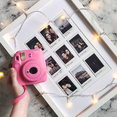 Cute way to organize & display all your fujifilm instax mini or polaroid photos - Instax Camera - ideas of Instax Camera. Trending Instax Camera for sales. - Cute way to organize & display all your fujifilm instax mini or polaroid photos Polaroid Pictures Display, Polaroid Display, Display Photos, Display Ideas, Polaroid Foto, Polaroid Wall, Polaroid Camera, Polaroid Crafts, Mini Polaroid
