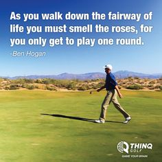Golf quotes by Ben Hogan // Golf Rolling Hills Country Club in Palos Verdes Get yourself out of the 'rat race' and help other's do the same. www.MarquezMarketing.com
