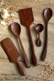 gourmet kitchen utensil set Old World Kitchen Cnc, Kitchen Utensil Set, Cooking Spoon, Wooden Walking Sticks, Beginner Woodworking Projects, Dremel Projects, Wood Projects, Diy Cutting Board, Wood Spoon