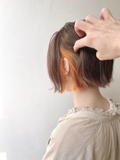 Elegant Hairstyles, Cute Hairstyles, Two Color Hair, Hair Color Underneath, Dark Hair With Highlights, Hair Reference, Square Faces, Hair Inspo, Hair Goals