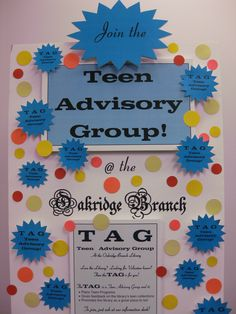 TAG U R it! The Oakridge Branch Library is starting up a TAG! The TAG is a Teen Advisory Group and it plans Teen Programs, gives feedback on VPL's Teen collections & promotes the library as a great place to be!  To join the Oakridge Branch TAG swing by the Oakridge Library and pick up a membership form!  For further details please ask at our information desk, or give us a call at 604-665-3980