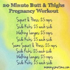 Pregnancy Workout Strength-training plan (at-home)