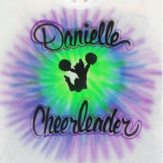 Airbrushed Trendy Tie Dye Cheerleader shirt