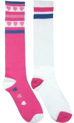 0d7358a26 Capelli New York Knee High Heart Stripes With Rib 2Pk Pink Combo Med Capelli  New York.  5.95