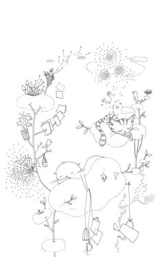 Mooli : Tous les messages sur Mooli - Page 5 - les chosettes Art And Illustration, Black And White Illustration, Illustrations, Cat Coloring Page, Colouring Pages, Arte Fashion, Inspiration Art, Animal Sketches, Pictures To Draw