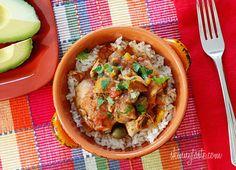 Crock Pot Chicken a la Criolla by skinnytaste #Chicken #Crock_Pot #skinnytaste
