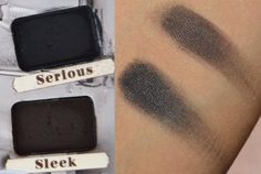 Serious and Sleek swatches from The Balm - Nude'tude palette